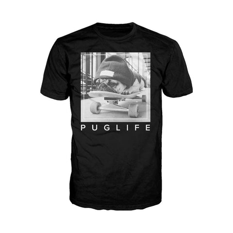 Doug The Pug Pug Life Board Official Men's T-shirt (Black)