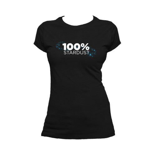 I Love Science 100% Stardust Official Women's T-shirt (Black) - Urban Species Ladies Short Sleeved T-Shirt