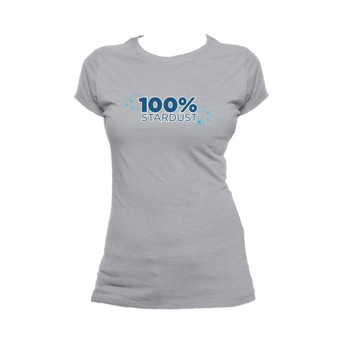 I Love Science 100% Stardust Official Women's T-shirt (Heather Grey)