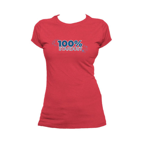 I Love Science 100% Stardust Official Women's T-shirt (Red) - Urban Species Ladies Short Sleeved T-Shirt
