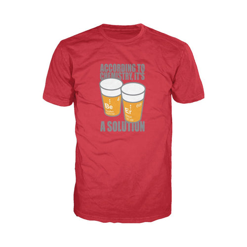 I Love Science Be-Er: It's A Solution Official Men's T-shirt (Red)