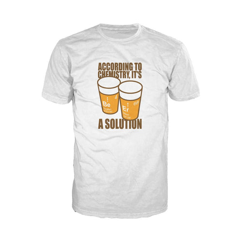 I Love Science Be-Er: It's A Solution Official Men's T-shirt (White) - Urban Species Mens Short Sleeved T-Shirt