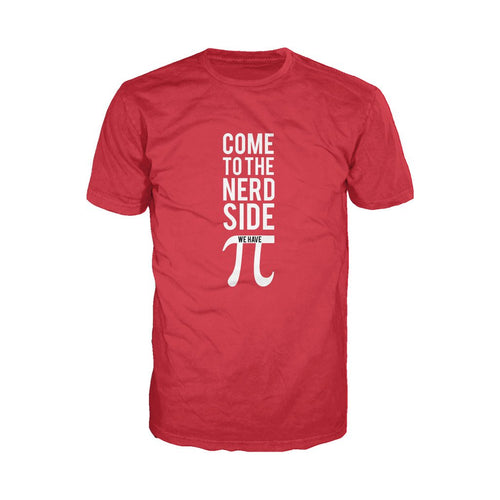 I Love Science Come To The Nerd Side We Have Pi Official Men's T-shirt (Red)