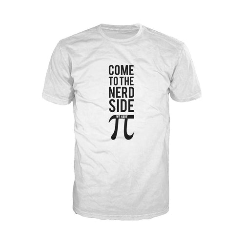 I Love Science Come To The Nerd Side We Have Pi Official Men's T-shirt (White)