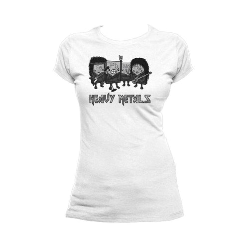 I Love Science Heavy Metals Official Women's T-shirt (White) - Urban Species Ladies Short Sleeved T-Shirt