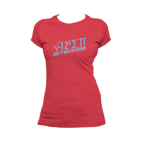 I Love Science I 8 Sum Pi Official Women's T-shirt (Red)