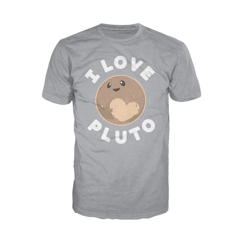 I Love Science I Love Pluto Official Men's T-shirt (Heather Grey)