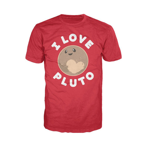 I Love Science I Love Pluto Official Men's T-shirt (Red)