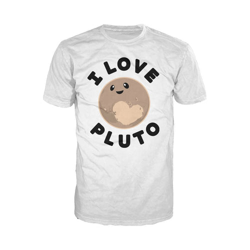 I Love Science I Love Pluto Official Men's T-shirt (White)