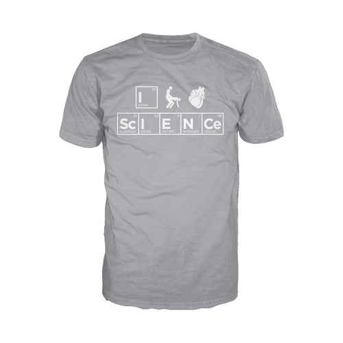 I Love Science I (Stick Figure Anatomical Heart) Science Official Men's T-shirt (Heather Grey) - Urban Species Mens Short Sleeved T-Shirt