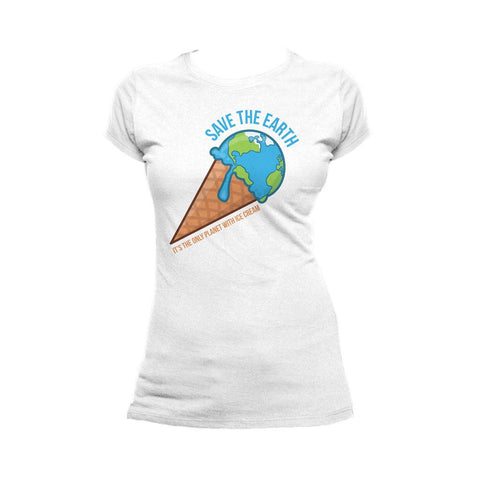 I Love Science Ice Cream Official Women's T-shirt (White)