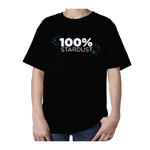 I Love Science 100% Stardust Official Kid's T-shirt (Black) - Urban Species Kids Short Sleeved T-Shirt