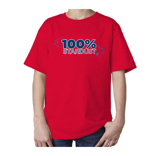 I Love Science 100% Stardust Official Kid's T-shirt (Red) - Urban Species Kids Short Sleeved T-Shirt