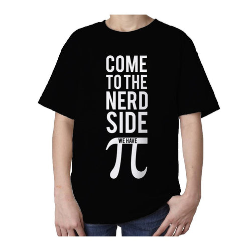 I Love Science Come To The Nerd Side We Have Pi Official Kid's T-shirt (Black)