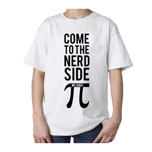 I Love Science Come To The Nerd Side We Have Pi Official Kid's T-shirt (White)