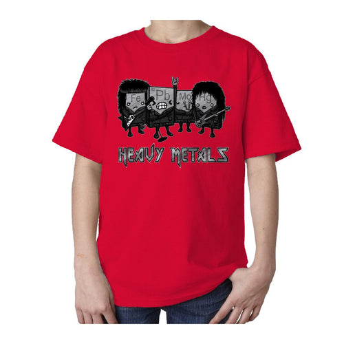 I Love Science Heavy Metals Official Kid's T-shirt (Red) - Urban Species Kids Short Sleeved T-Shirt