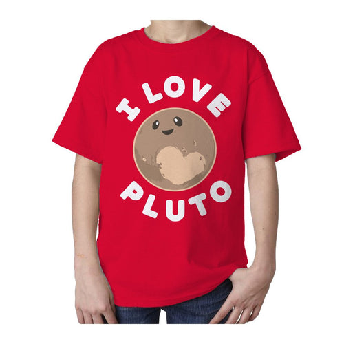 I Love Science I Love Pluto Official Kid's T-shirt (Red)