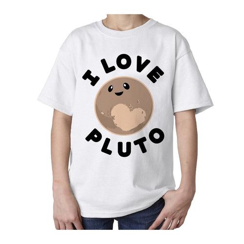 I Love Science I Love Pluto Official Kid's T-shirt (White) - Urban Species Kids Short Sleeved T-Shirt