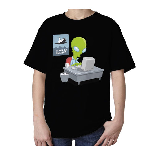 I Love Science I Want To Believe Official Kid's T-shirt (Black)