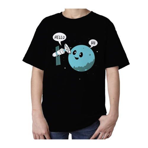 I Love Science Planet Official Kid's T-shirt (Black) - Urban Species Kids Short Sleeved T-Shirt