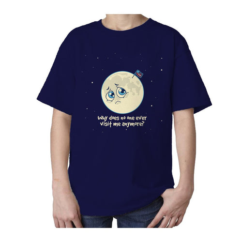 I Love Science Sad Moon Official Kid's T-shirt (Navy) - Urban Species Kids Short Sleeved T-Shirt