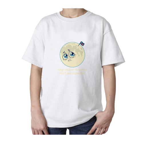 I Love Science Sad Moon Official Kid's T-shirt (White)
