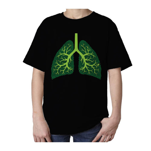 I Love Science Trees Are The Lungs Of Earth Official Kid's T-shirt (Black)