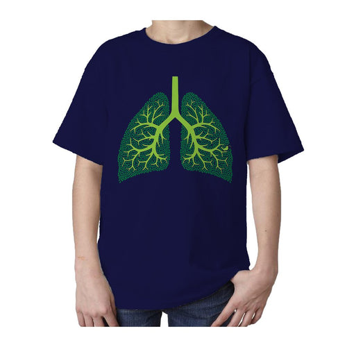 I Love Science Trees Are The Lungs Of Earth Official Kid's T-shirt (Navy)