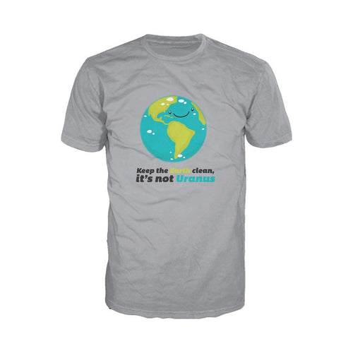 I Love Science Keep The Earth Clean It's Not Uranus Official Men's T-shirt (Heather Grey)