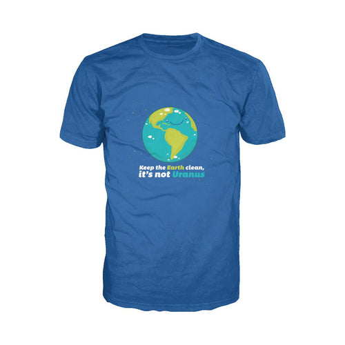I Love Science Keep The Earth Clean It's Not Uranus Official Men's T-shirt (Royal Blue)