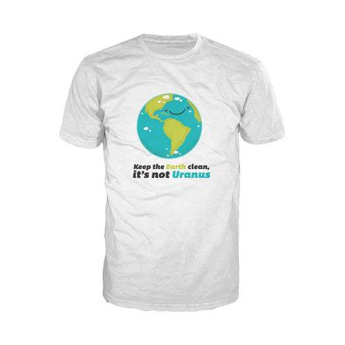 I Love Science Keep The Earth Clean It's Not Uranus Official Men's T-shirt (White) - Urban Species Mens Short Sleeved T-Shirt