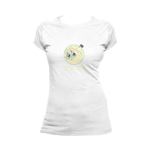 I Love Science Sad Moon Official Women's T-shirt (White)