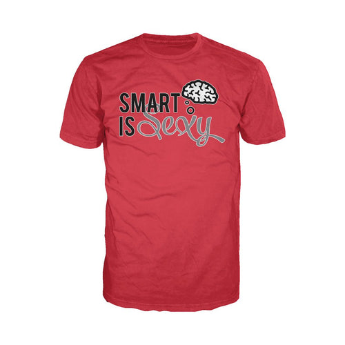 I Love Science Smart Is Sexy Official Men's T-shirt (Red)