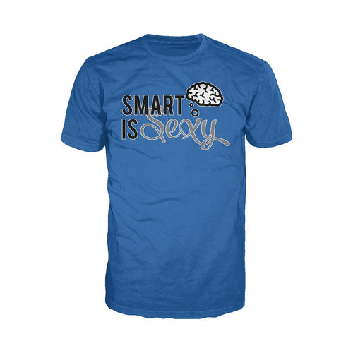 I Love Science Smart Is Sexy Official Men's T-shirt (Royal Blue)