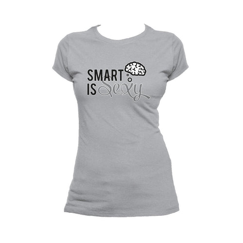 I Love Science Smart Is Sexy Official Women's T-shirt (Heather Grey) - Urban Species Ladies Short Sleeved T-Shirt