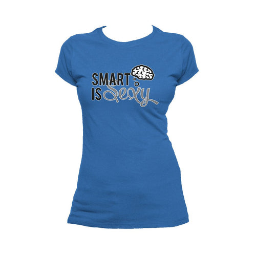 I Love Science Smart Is Sexy Official Women's T-shirt (Royal Blue)
