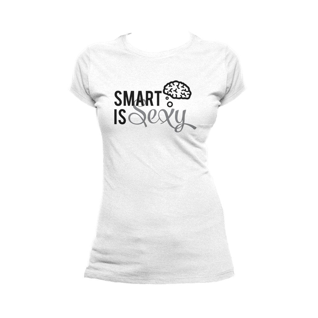 8673d739 I Love Science Smart Is Sexy Official Women's T-shirt (White ...