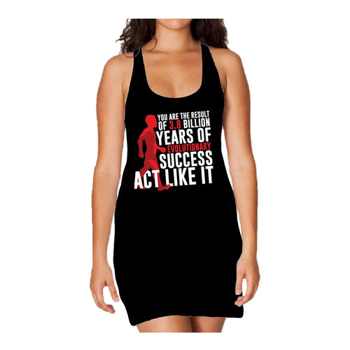 I Love Science Evolutionary Success Official Women's Long Tank Dress (Black)