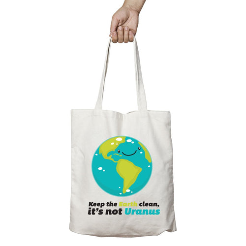 I Love Science Keep the Earth Clean It's Not Uranus Official Tote Bag (Natural)