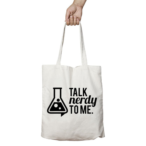 I Love Science Talk Nerdy To Me Official Tote Bag (Natural)
