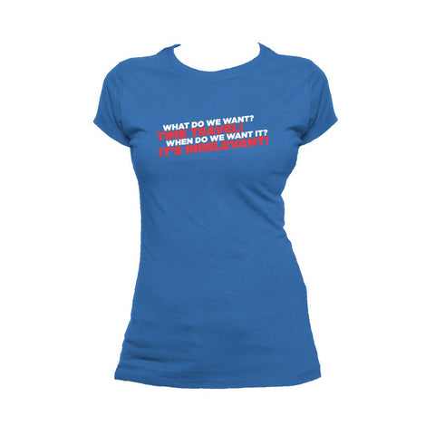 I Love Science Time Travel Official Women's T-shirt (Royal Blue)