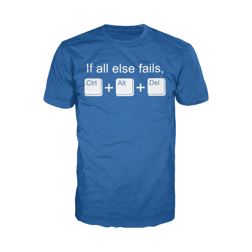 CTRL-ALT-DEL - Adult Joke T-shirt (Royal Blue) - Urban Species Mens Short Sleeved T-Shirt