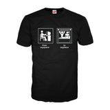 From Myspace to Myplace - Adult Joke T-shirt (Black)