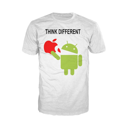 Think Different - Adult Joke T-shirt (White) - Urban Species Mens Short Sleeved T-Shirt