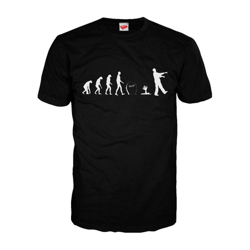 Zombie Evolution - Adult Joke T-shirt (Black)