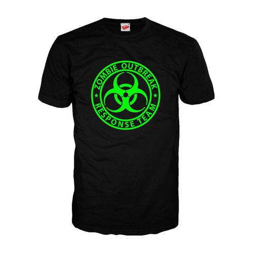 Zombie Response - Adult Joke T-shirt (Black)