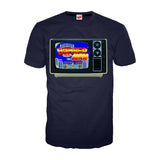 Bomberman TV Screen Official Men's T-shirt (Navy) - Urban Species Mens Short Sleeved T-Shirt
