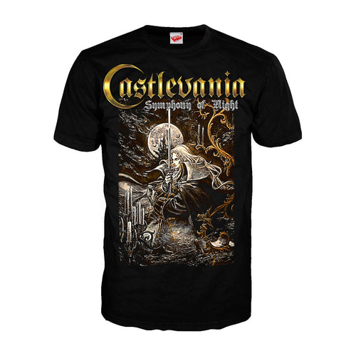 Castlevania Symphony Box Art Official Men's T-shirt (Black) - Urban Species Mens Short Sleeved T-Shirt