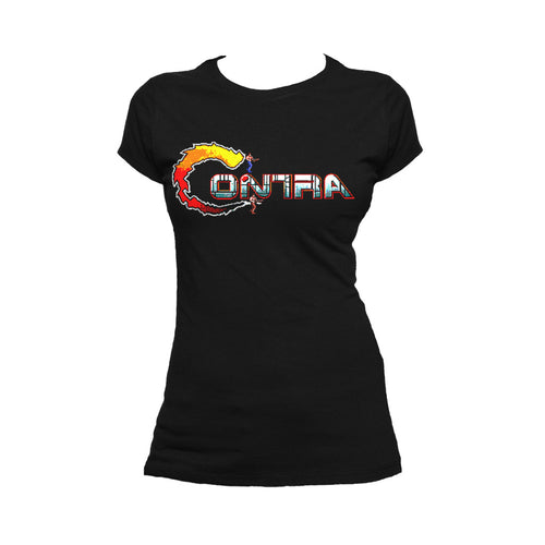 Contra Logo Official Women's T-shirt (Black) - Urban Species Ladies Short Sleeved T-Shirt