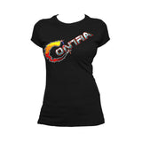 Contra Logo 02 Official Women's T-shirt (Black) - Urban Species Ladies Short Sleeved T-Shirt